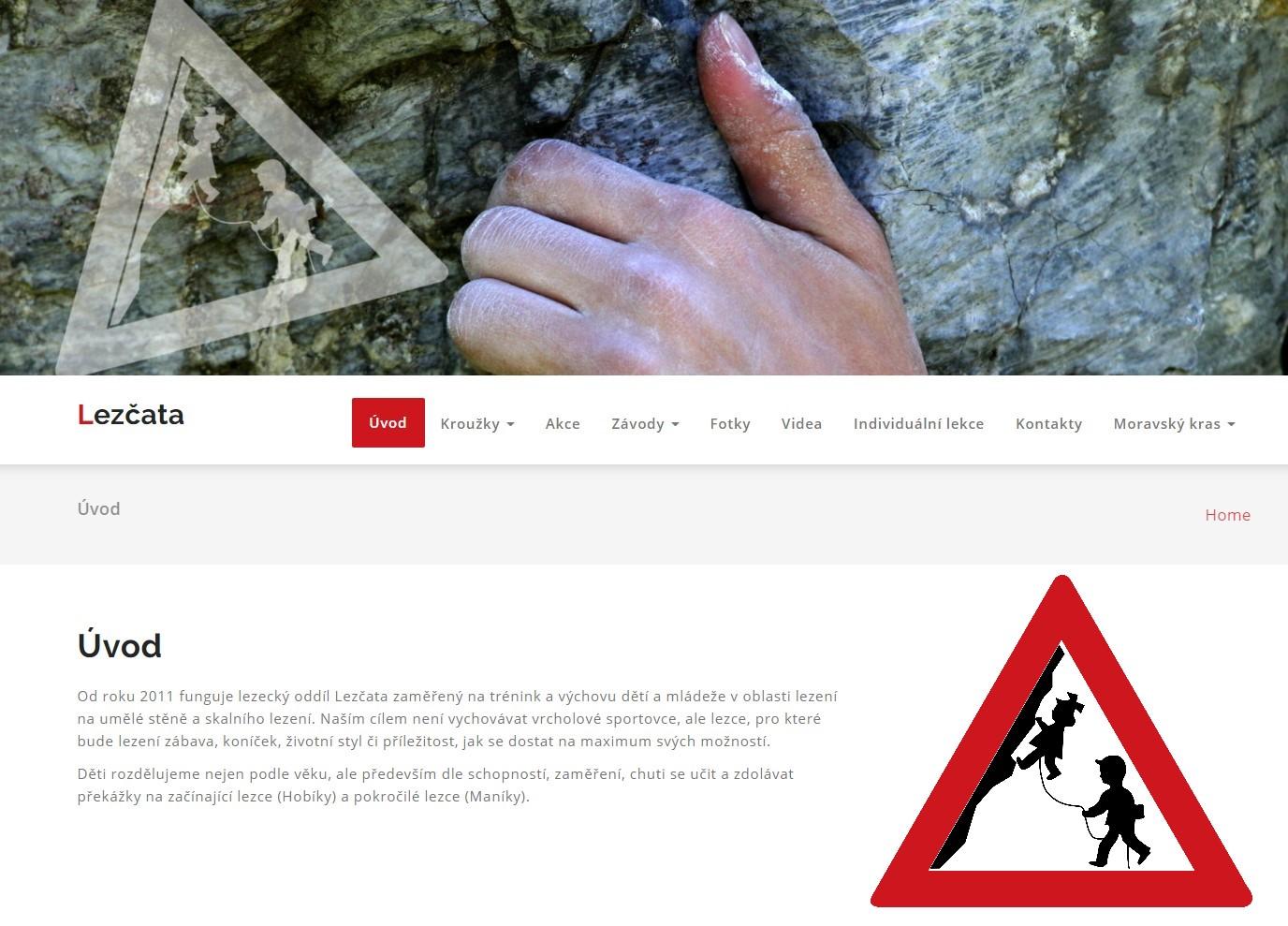 Webové stránky Lezcata.cz